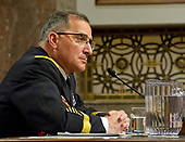 """United States Army General Curtis M. Scaparrotti, Commander, U.S. European Command / Supreme Allied Commander, Europe, testifies before the US Senate Committee on Armed Services on the """"US European Command"""" on Capitol Hill in Washington, DC on Thursday, March 23, 2017.<br /> Credit: Ron Sachs / CNP"""