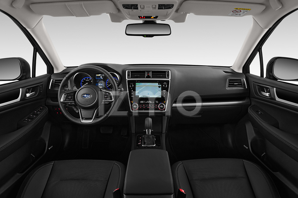 Stock photo of straight dashboard view of 2019 Subaru Outback Premium 5 Door Wagon Dashboard