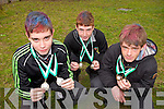 Students from Gaelcholáiste Chiarraí, Breandan Caball, Ian Mac Amhlaoibh and Tadhg Ó'Liongsigh came 2nd, 1st and 3rd respectively in the senior category at the Kerry Education Service Cross Country Championships on Thursday morning in Listowel Community Centre.