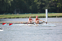 Race: 39  W.MasE.2x  Quarter-Final<br /> 381  Wallingford Rowing Club<br /> 383  North Staffordshire Rowing Club<br /> <br /> Henley Masters Regatta 2018 - Friday<br /> <br /> To purchase this photo, or to see pricing information for Prints and Downloads, click the blue 'Add to Cart' button at the top-right of the page.