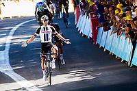 Picture by Alex Whitehead/SWpix.com - 15/07/2017 - Cycling - Le Tour de France - Stage 14, Blagnac to Rodez - Sunweb's Michael Matthews celebrates the win.