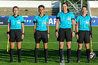 20200307  Lagos , Portugal : the referees pictured during the female football game between the national teams of Germany and Norway on the second matchday of the Algarve Cup 2020 , a prestigious friendly womensoccer tournament in Portugal , on saturday 7 th March 2020 in Lagos , Portugal . PHOTO SPORTPIX.BE | STIJN AUDOOREN
