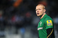 Tom Homer of London Irish looks on during a break in play. Aviva Premiership match, between Saracens and London Irish on January 3, 2015 at Allianz Park in London, England. Photo by: Patrick Khachfe / JMP