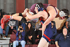 Daniel Steinmann of MacArthur lifts Jack Molloy of Mepham during their battle at 120 pounds in a Nassau County varsity wrestling match at Mepham High School on Wednesday, Jan. 11, 2017. Steinmann won the tightly contested bout by decision 11-10.