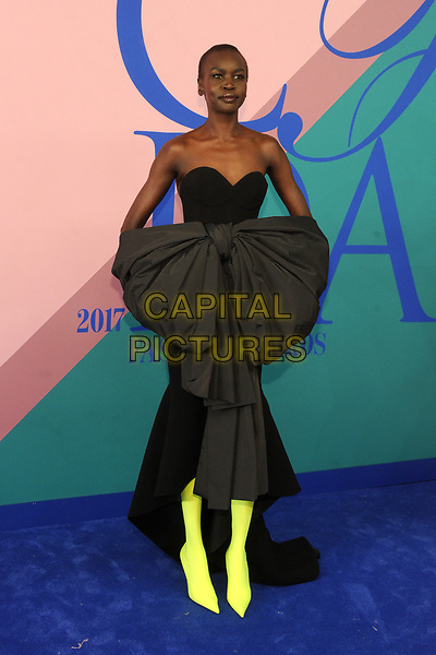 NEW YORK, NY - JUNE 5: Alek Wek at the 2017 CFDA Fashion Awards at The Hammerstein Ballroom in New York City on June 5, 2017. <br /> CAP/MPI/JP<br /> &copy;JP/MPI/Capital Pictures