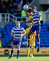 Preston North End's Ben Pearson (left) battles with Reading's Ovie Ejaria (right) <br /> <br /> Photographer David Horton/CameraSport<br /> <br /> The EFL Sky Bet Championship - Reading v Preston North End - Saturday 19th October 2019 - Madejski Stadium - Reading<br /> <br /> World Copyright © 2019 CameraSport. All rights reserved. 43 Linden Ave. Countesthorpe. Leicester. England. LE8 5PG - Tel: +44 (0) 116 277 4147 - admin@camerasport.com - www.camerasport.com