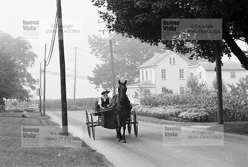 - USA, Lancaster County (Pennsylvania), Amish community<br />