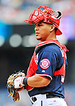 5 September 2011: Washington Nationals catcher Wilson Ramos in action against the Los Angeles Dodgers at Nationals Park in Los Angeles, District of Columbia. The Nationals defeated the Dodgers 7-2 in the first game of their 4-game series. Mandatory Credit: Ed Wolfstein Photo
