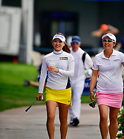 So Yeon Ryu of Korea on the champions walk making her way tho the 18th green, during the final round of the ANA Inspiration at the Mission Hills Country Club in Palm Desert, California, USA. 4/1/18.<br /> <br /> Picture: Golffile | Bruce Sherwood<br /> <br /> <br /> All photo usage must carry mandatory copyright credit (&copy; Golffile | Bruce Sherwood)