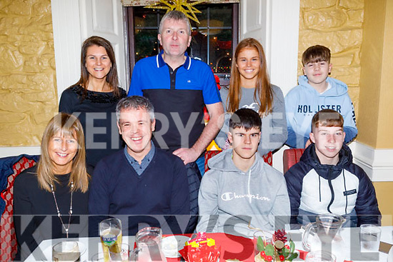 Enjoying the evening in the Brogue Inn on Saturday.<br /> Seated l to r: Theresa, Declan and Adam Toffy and Edmund Cooney.<br /> Back l to r: Ann and Paul Cooney, Leonie Toffy and Nathan Cooney