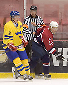 Anton Stralman (Timra IK - Toronto Maple Leafs), Justin Abdelkader (Michigan State University - Detroit Red Wings)   The US Blue team lost to Sweden 3-2 in a shootout as part of the 2005 Summer Hockey Challenge at the National Junior (U-20) Evaluation Camp in the 1980 rink at Lake Placid, NY on Saturday, August 13, 2005.