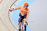 Picture by Charlie Forgham-Bailey/SWpix.com - 02/03/2018 - 2018 UCI Track Cycling World Championships, Apeldoorn,The Netherlands, Day 3 - Men's Points Race - Jan Willem van Schip of The Netherlands celebrates