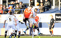 Loaned defender Alan Sheehan of Luton Town heads the ball clear during the Sky Bet League 2 match between Luton Town and Notts County at Kenilworth Road, Luton, England on 30 January 2016. Photo by Liam Smith.