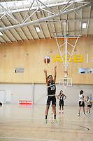 Hawkesd Bay's Kathleen Tuaputa Nahora shoots from the pen during the National Under-15 Basketball Championship at the ASB Sports Centre, Kilbirnie, Wellington, New Zealand on Thursday, 25 July 2013. Photo: Dave Lintott / lintottphoto.co.nz