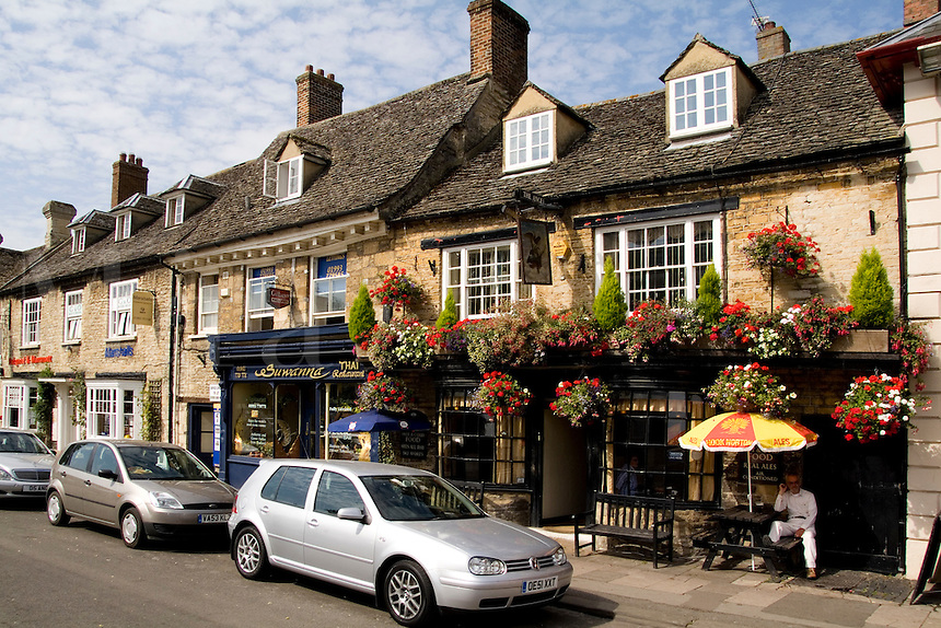 The Angel Pub on Main Street, Witney, England