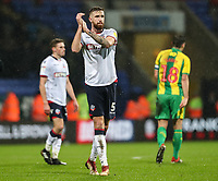 Bolton Wanderers' Mark Beevers applauds his side's supporters at the end of the match <br /> <br /> Photographer Andrew Kearns/CameraSport<br /> <br /> The EFL Sky Bet Championship - Bolton Wanderers v West Bromwich Albion - Monday 21st January 2019 - University of Bolton Stadium - Bolton<br /> <br /> World Copyright © 2019 CameraSport. All rights reserved. 43 Linden Ave. Countesthorpe. Leicester. England. LE8 5PG - Tel: +44 (0) 116 277 4147 - admin@camerasport.com - www.camerasport.com