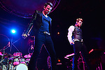 FORT LAUDERDALE, FL - OCTOBER 22: Jordan Knight and Nick Carter perform at Revolution Live on Wednesday October 22, 2014 in Fort Lauderdale, Florida. (Photo by Johnny Louis/jlnphotography.com)