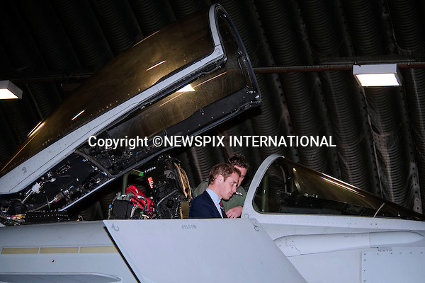 "PRINCE WILLIAM.Honorary Air Commandant, Royal Air Force Coningsby visited the air station and meet RAF personnel, the families, and support staff. .He also visited the Typhoon Maintenance Facility and viewed a Typhoon jet, RAF Coningsby, Lincoln_11/01/2010.Mandatory Credit Photo: ©DIAS-NEWSPIX INTERNATIONAL..**ALL FEES PAYABLE TO: ""NEWSPIX INTERNATIONAL""**..IMMEDIATE CONFIRMATION OF USAGE REQUIRED:.Newspix International, 31 Chinnery Hill, Bishop's Stortford, ENGLAND CM23 3PS.Tel:+441279 324672  ; Fax: +441279656877.Mobile:  07775681153.e-mail: info@newspixinternational.co.uk"