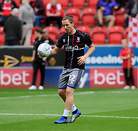 Lincoln City's Aaron Lewis during the pre-match warm-up<br /> <br /> Photographer Chris Vaughan/CameraSport<br /> <br /> The EFL Sky Bet Championship - Rotherham United v Lincoln City - Saturday 10th August 2019 - New York Stadium - Rotherham<br /> <br /> World Copyright © 2019 CameraSport. All rights reserved. 43 Linden Ave. Countesthorpe. Leicester. England. LE8 5PG - Tel: +44 (0) 116 277 4147 - admin@camerasport.com - www.camerasport.com