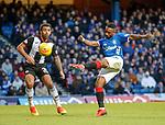 02.02.2019: Rangers v St Mirren: Jermain Defoe drills in a shot