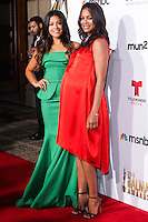PASADENA, CA, USA - OCTOBER 10: Gina Rodriguez, Zoe Saldana arrive at the 2014 NCLR ALMA Awards held at the Pasadena Civic Auditorium on October 10, 2014 in Pasadena, California, United States. (Photo by Celebrity Monitor)