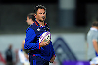 Bath Rugby Head Coach Tabai Matson looks on during the pre-match warm-up. European Rugby Challenge Cup match, between Pau (Section Paloise) and Bath Rugby on October 15, 2016 at the Stade du Hameau in Pau, France. Photo by: Patrick Khachfe / Onside Images