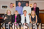 Enjoying Dillane Family Christmas Party at Kerins O'Rahillys Clubhouse on Saturday. were Brid Dillane, Margaret Guerin, Noreen Bambury, Miriam McGillycuddy.  Back l-r Liam Bambury, James Dillane, John Kelleher, Mike Dillane