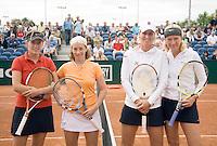 17-8-08, Den Bosch, Tennis, Nationale Kampioenschappen, Dames dubbel finale v.l.n.r.: Suzanne van Hartingsveldt en Stephany Gomperts tegen Susanne Trik en Mireille Bink