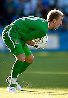 Manchester City goal keeper Joe Hart during a match at Merlo Field in Portland Oregon on July 17, 2010.