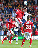 Preston North End's Paul Gallagher battles with Nottingham Forest's Alfa Semedo<br /> <br /> Photographer David Shipman/CameraSport<br /> <br /> The EFL Sky Bet Championship - Nottingham Forest v Preston North End - Saturday 31st August 2019 - The City Ground - Nottingham<br /> <br /> World Copyright © 2019 CameraSport. All rights reserved. 43 Linden Ave. Countesthorpe. Leicester. England. LE8 5PG - Tel: +44 (0) 116 277 4147 - admin@camerasport.com - www.camerasport.com