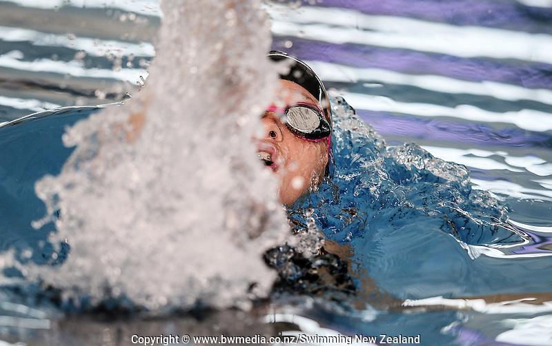 Action during the New Zealand Junior Swimming Championships, Owen G Glenn National Aquatic Centre, Auckland New Zealand. Friday 19 February 2016 Photo: Simon Watts/www.bwmedia.co.nz