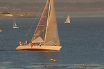 Sailing Santa Cruz in evening