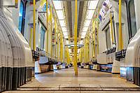 The view of wagon District Line underground (Green Line) on Februrary 03, 2019, in London, UK. (Photo by Adamo Di Loreto/BuenaVista*photo)
