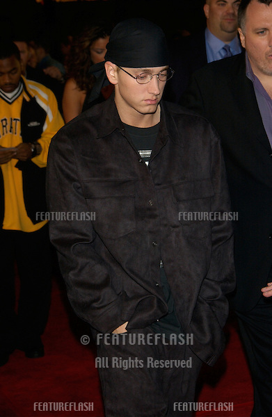 Actor/rapper EMINEM at the world premiere of his new movie 8 Mile, in Los Angeles..06NOV2002.  © Paul Smith / Featureflash
