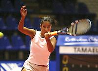 20031209, Rotterdam, LSI Masters, Elise Tamaela wint haar  partij van Jolanda Mens