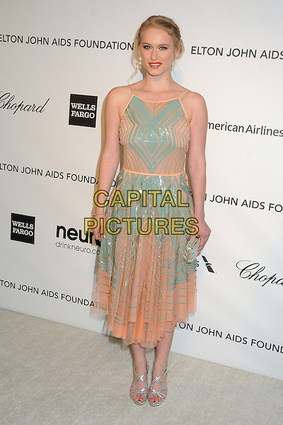 Leven Rambin.21st Annual Elton John Academy Awards Viewing Party held at West Hollywood Park, West Hollywood, California, USA..February 24th, 2013.oscars full length blue pink dress pattern .CAP/ADM/BP.©Byron Purvis/AdMedia/Capital Pictures.