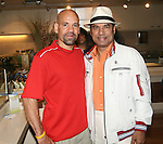 John Lopez of Tumeric and Bikram Choudhoury attend Bikram Choudhury Visits East West, New York, 5/23/10