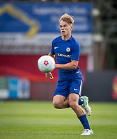 Luke McCormick of Chelsea U23 during the pre season friendly match between Aldershot Town and Chelsea U23 at the EBB Stadium, Aldershot, England on 19 July 2017. Photo by Andy Rowland / PRiME Media Images.