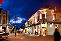Night time photo of central Queenstown, South Island, New Zealand.