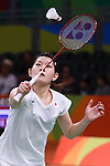 Ayaka Takahashi (JPN), <br /> AUGUST 13, 2016 - Badminton : <br /> Women's Singles Group Play <br /> at Riocentro - Pavilion 4 <br /> during the Rio 2016 Olympic Games in Rio de Janeiro, Brazil. <br /> (Photo by Sho Tamura/AFLO SPORT)