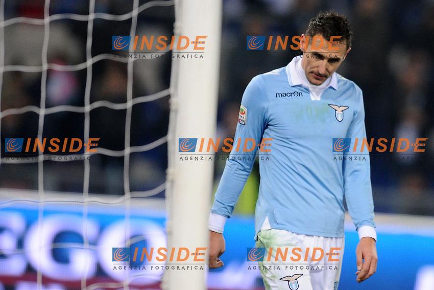 Miroslav Klose Lazio.05/01/2013 Roma.Stadio Olimpico.Football Calcio 2012 / 2013 .Campionato di Calcio Serie A.Lazio vs Cagliari.Foto Insidefoto / Antonietta Baldassarre.