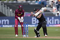 Kane Williamson (New Zealand) drives through the offside during West Indies vs New Zealand, ICC World Cup Warm-Up Match Cricket at the Bristol County Ground on 28th May 2019
