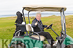 Driving In<br /> -------------<br /> Well known accountant Frank Stephenson from Tralee at the start of the Captains drive in last Sunday at Tralee golf club.