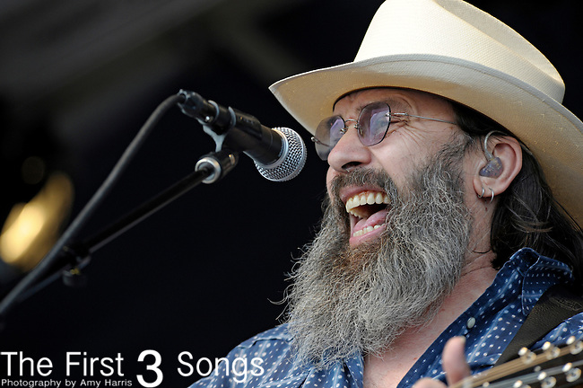 Steve Earle of Steve Earle and the Dukes performs during the New Orleans Jazz & Heritage Festival in New Orleans, LA on May 5, 2012.