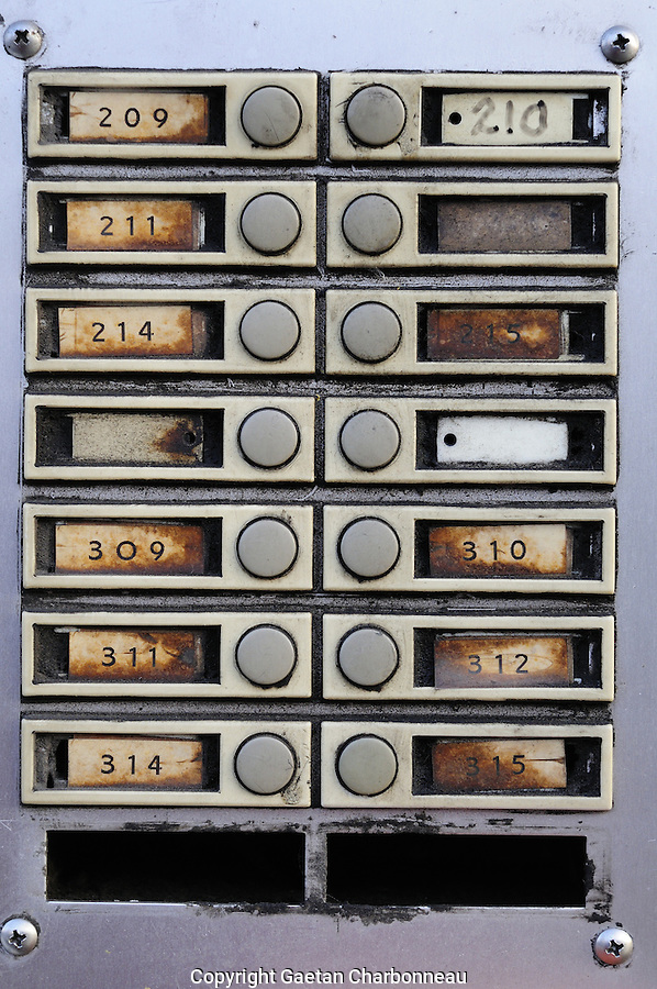Old numbered intercom