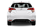 Straight rear view of 2016 Honda HRV Executive 5 Door Suv Rear View  stock images