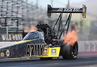 Feb 3, 2017; Chandler, AZ, USA; NHRA top fuel driver Tony Schumacher during Nitro Spring Training preseason testing at Wild Horse Pass Motorsports Park. Mandatory Credit: Mark J. Rebilas-USA TODAY Sports