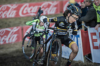 Jolien Verschueren (BEL/Telenet-Fidea) up the slippery river banks<br /> <br /> Elite Women's Race<br /> Soudal Jaarmarktcross Niel 2016