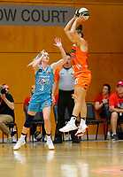 29th November 2019; Bendat Basketball Centre, Perth, Western Australia, Australia; Womens National Basketball League Australia, Perth Lynx versus Southside Flyers; Alison Schwagmeyer-Belger of the Perth Lynx passes the ball at the top of the key - Editorial Use