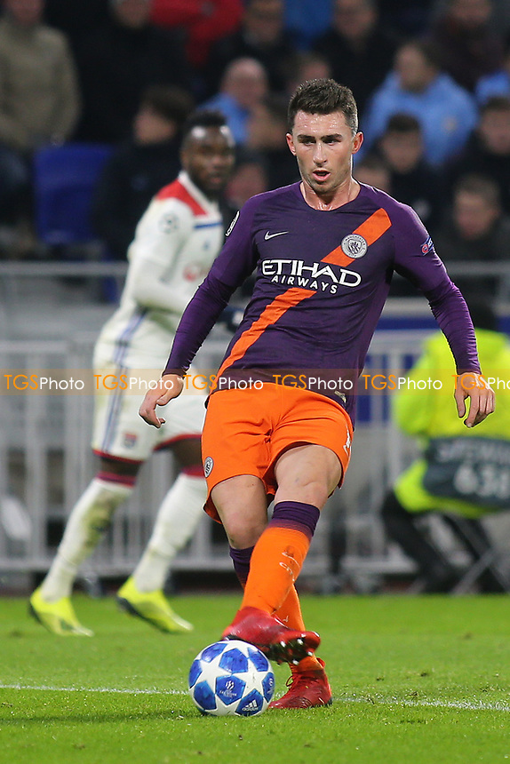 Aymeric Laporte of Manchester City in action during Lyon vs Manchester City, UEFA Champions League Football at Groupama Stadium on 27th November 2018